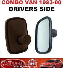 VAUXHALL COMBO B MK1 VAN WING MIRROR HEAD GLASS 1993-00 DRIVERS OFF RIGHT SIDE