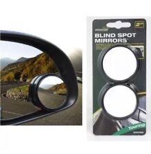 2x Convex BLIND SPOT MIRROR Towing Reversing Driving SELF ADHESIVE Car Van Bikes