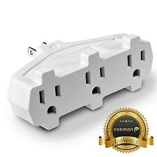 Fosmon [ETL Listed] 3 Outlet Indoor Wall Tap Adapter AC Mini Plug Phone Holder