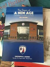 More details for chesterfield fc dawn of new age programme - v barnet - august 2010