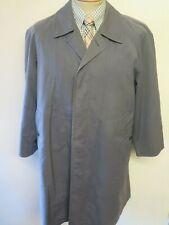 "Genuine Burberry Grey Mac Trench Coat Raincoat Size 40"" Euro 50 R + Winter Liner"