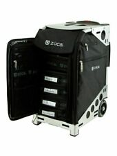 ZUCA Pro Artist Case - Black Insert Bag in Black Frame, with Travel Cover and 4
