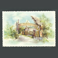 Disneyland Vintage Unused Hallmark Watercolor Postcard Adventureland circa 1960