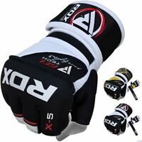 RDX MMA Gloves Grappling Training Punching Bag Fighting Wraps Martial Arts USA