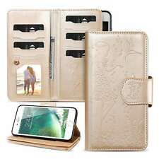 PU Leather Wallet Cover for iPhone Samsung Huawei Girl Stand Card Holder Case