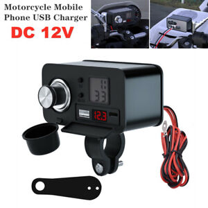 12V Motorcycle Phone USB Charger Waterproof PD Fast Charging Cigarette Lighter