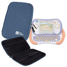 Blue Hard Case With Felt Lining For Use With Ematic FunTab Pro, VTech Mobigo