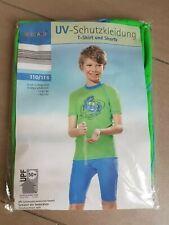 UV Schutz Kleidung UV Schutz Shirt und Hose Gr. 110/116 blau grün Pocopiano neu