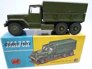 VINTAGE CORGI 1118 INTERNATIONAL 6X6 ARMY TRUCK IN ORIGINAL BOX 1959-64