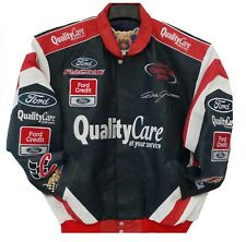 Size  XL  Nascar  Quality Care  Dale  Jarrett  Leather Jacket  XL