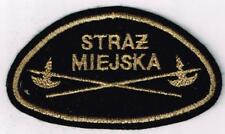 Poland Municipal Police patch - felt cloth - tinsel thread