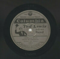 TED LEWIS 1928 LIMEHOUSE BLUES 78rpm- COLUMBIA # 1789-D-TED LEWIS IMAGE ON LABEL