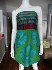 NWT DESIGUAL Sleeveless Tropical/Peacock Dress 40