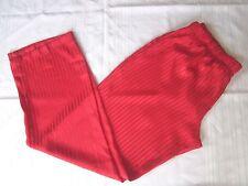 Victoria's Secret The Afterhours Satin Pajama Lounge Pants Red Strips Slip L
