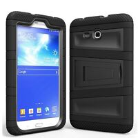 Armor Rugged Hybrid Cover Stand Case TABLET For Samsung Galaxy Tab LITE 7 Black