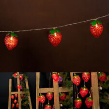 Battery-Powered Red Strawberry String Light for Home and Garden Decoration AS