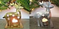 Vintage Style Reindeer Deer Stag Christmas Tea Light Candle Holder Decoration