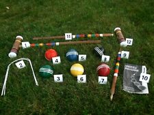 Vintage Forster Croquet Set Replacement Parts, Balls, Mallets, Heads Handles