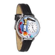 Whimsical Watches Unisex U0620014 Pharmacist Black Padded Leather Watch