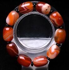 17*13*13mm Natural Red Agate Gemstone Beads Bracelet AAAA