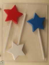 STAR LOLLIPOP CLEAR PLASTIC CHOCOLATE CANDY MOLD LCA019