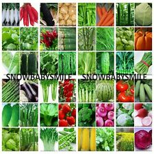 45 Variety 9,400 Vegetable Seeds Herbs Organic NON GMO Heirloom Lot Garden Food