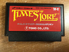 TIMES OF LORE Nintendo Famicom FC/NES Japan Import US Seller