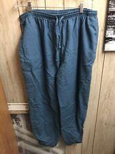 Natural Uniforms Natural Comfort Unisex Xl Scrub Pants blue/grayDrawstring Cargo