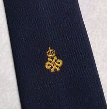 QUEEN'S AWARD EXPORT LOGO TIE VINTAGE CLUB ASSOCIATION NAVY GOLD 1980s 1990s