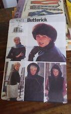 Oop Butterick 3311 misses winter hooded vest headwear fake fur sz 12-18 NEW