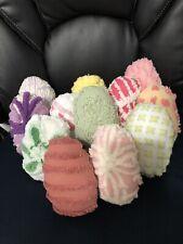 Handmade Variety Antique Chenille Bedspread Easter Eggs Baker's Dozen