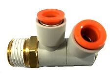 SMC PBT Brass Push-to-Connect Tube Fitting Sealant Double Elbow 1/2