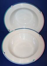 "LOVELY PAIR OF MIKASA L5543 JET SET 10 1/4"" ROUND VEGETABLE BOWLS"