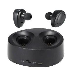 TWS Mini True Wireless Bluetooth Stereo In-Ear Headset Earphone Earbuds Black/Bl