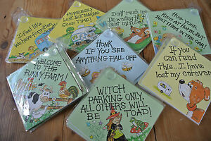 Job Lot Window Signs for Cars and homes Funny and Cute 14x14cm JOBLOT