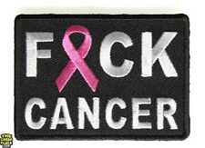 "F*ck Cancer Awareness Iron On Patch 2.75"" x 2"" Free Ship Breast Cancer P4314"