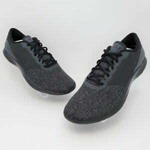 Nike Flex Contact Mens Black Lace Up Low Top Running Shoes Size US 12 908983-003