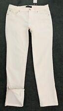 FOREVER NEW: Size: 10. Modern Design WHITE Mid-Rise Ankle-Length Zip Denim Jeans