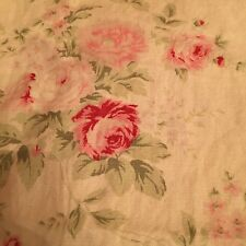 Rachel Ashwell Wild Flower Bouquet Butter Pink Fabric Retired Floral Rose 1 Yd