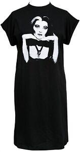 The Munsters Womens Horror High Neck T-Shirt Dress Lily Vampire Goth Halloween