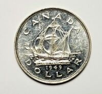 Canada 1949 Silver $1.00 One Dollar Coin