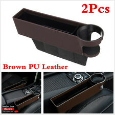 2Pcs Car Seat Gap Storage Box Organizer With Cup Holder For Interior Accessories