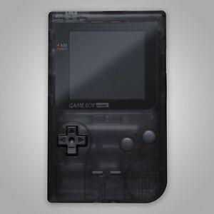 Game Boy Pocket Housing Shell Clear Black Repair Kit Case Nintendo