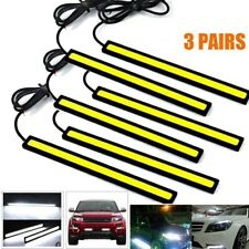 6PCS COB White 84 LED DRL Daytime Running Light Backup Interior Strip 12V 6W