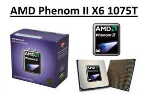 AMD Phenom II X6 1075T Hexa Core Processor 3.0 - 3.5 GHz, Socket AM3, 125W CPU