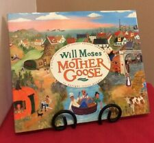 """Mother Goose SIGNED By Will Moses """"Grandma""""2003 HC Nursery Rhymes Folk Art"""