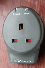 Compucessory Single Plug Socket  + Phone/Fax/Modem 13A Voltage Surge Protector