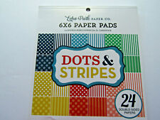 Echo Park Paper Dots and Stripes 6x6 Paper Pad 24 double sided cardstock papers