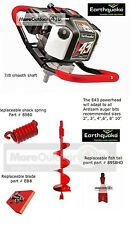 "Ardisam Earthquake E43 Powerhead One Man Post Hole Digger Earth Auger 8"" SALES"