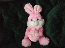 """11"""" Chrisha Playful plush pink Easter Bunny 2009"""
